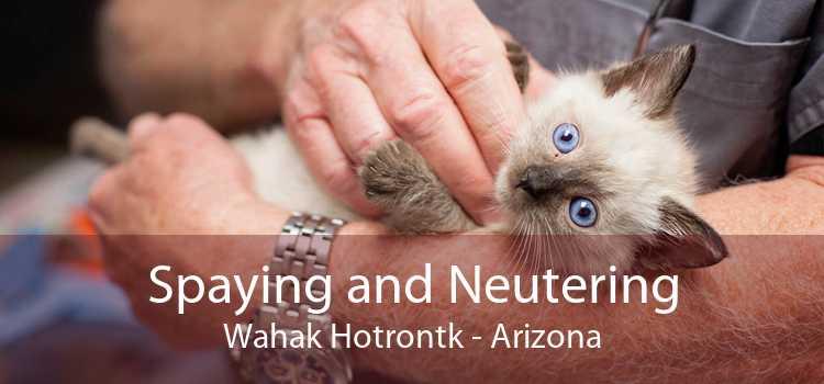 Spaying and Neutering Wahak Hotrontk - Arizona